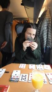 fiona on a train