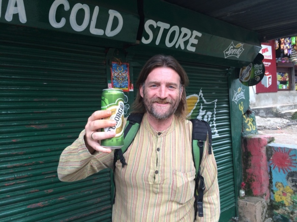 Ian welcomes me to the Shop with a cold cheap beer.